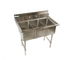 3 Compartment Sink (12x20x11D), 18g