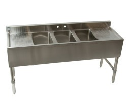 3 Bowl Stainless Steel Bar Sink